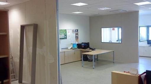 Raumunterteilung-Büros