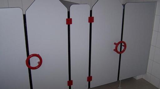 Kindergarten WC-Trennwandanlage